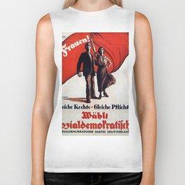 Vintage poster - German Women's Suffrage Biker Tank