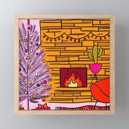 Modern Christmas Framed Mini Art Print