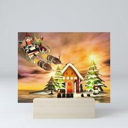 Crazy Christmas Elves Mini Art Print