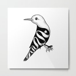 Lost in Its Own Existence (Bird) Metal Print