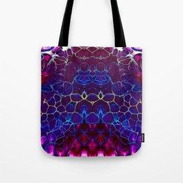 Magenta Lace Tote Bag