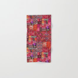 N98 - Traditional Heritage Boho Oriental Moroccan Collage Style. Hand & Bath Towel