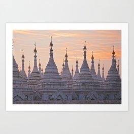 Sandamani Pagoda, Mandalay, Myanmar Art Print