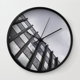 Flag of France floating in reflection Wall Clock