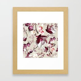 Magnolia cherry blossum Framed Art Print