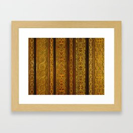 Looking up in the Alhambra Framed Art Print