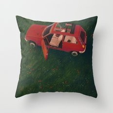 I'll Be Back In 20 Years Throw Pillow