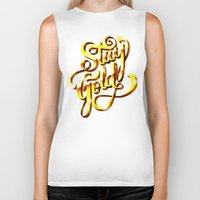 stay gold Biker Tanks featuring Stay Gold by Roberlan Borges