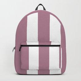 English lavender violet - solid color - white vertical lines pattern Backpack