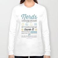 john green Long Sleeve T-shirts featuring Nerds - John Green by thatfandomshop