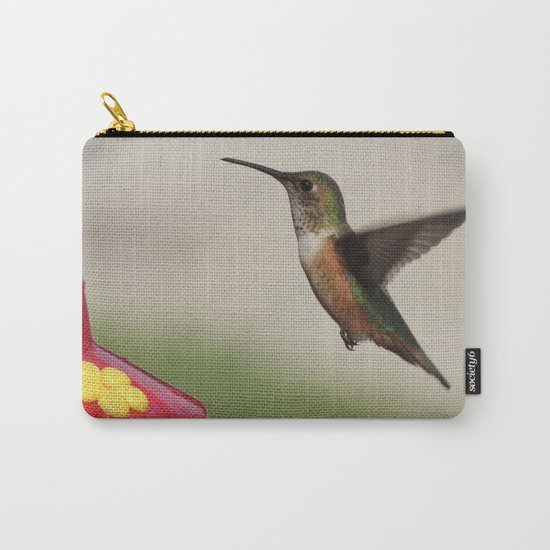 Ms. Hummingbird Checks the Feeder Carry-All Pouch