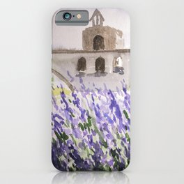 Lavenders Field and Bridge in Avignon iPhone Case