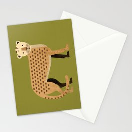 Whimsy Leopard Stationery Cards