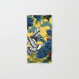 Cranes (Blue) Hand & Bath Towel