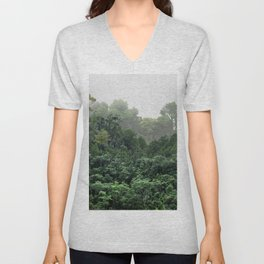 Tropical Foggy Forest Unisex V-Neck