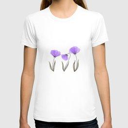 Spring Flower Trio Purple  T-shirt