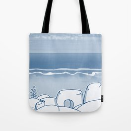 In Paradise Labyrinth Andre Bloc Tote Bag
