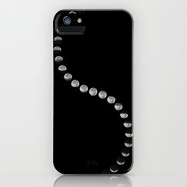 Phases of the Moon.Lunar cycle. iPhone Case