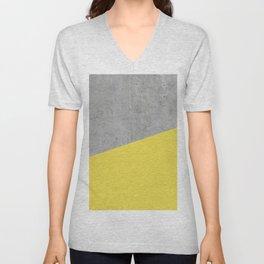 Concrete and Meadowlark Color Unisex V-Neck
