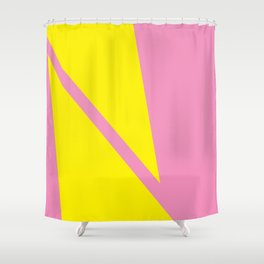 Pink Angles Shower Curtain