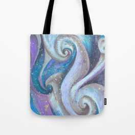 Swirl (blue and purple) Tote Bag