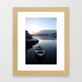 Norwegian Nature -Boat & Snow I Framed Art Print