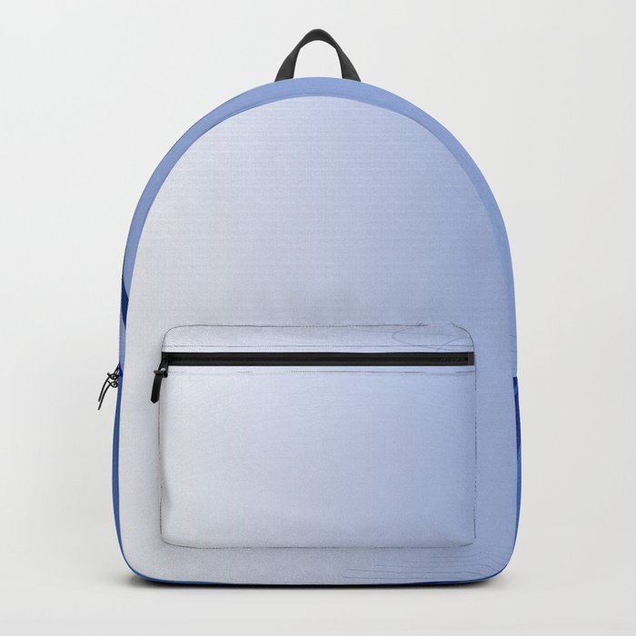 BLUE CURVES Abstract Art Backpack