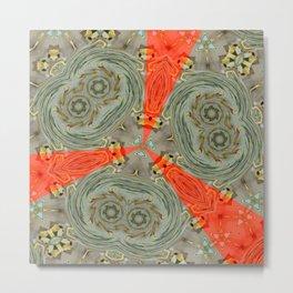 Stranger Clock Whirlwind Kaleidoscope Metal Print