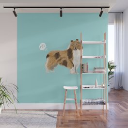 rough collie funny farting dog breed pure breed pet gifts Wall Mural