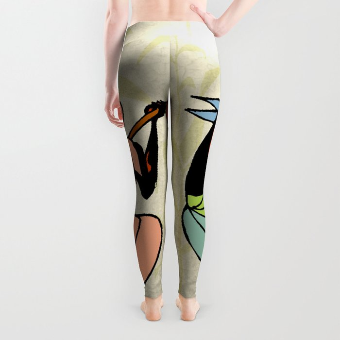 Man ethic african people collage Leggings