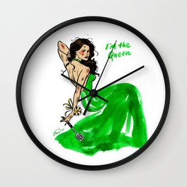 Queen Cordy Pin up Wall Clock