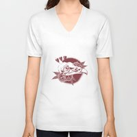 birdy V-neck T-shirts featuring Birdy by Sego