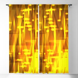 Luxurious golden triangles and metal stripes create abstraction and glow. Blackout Curtain