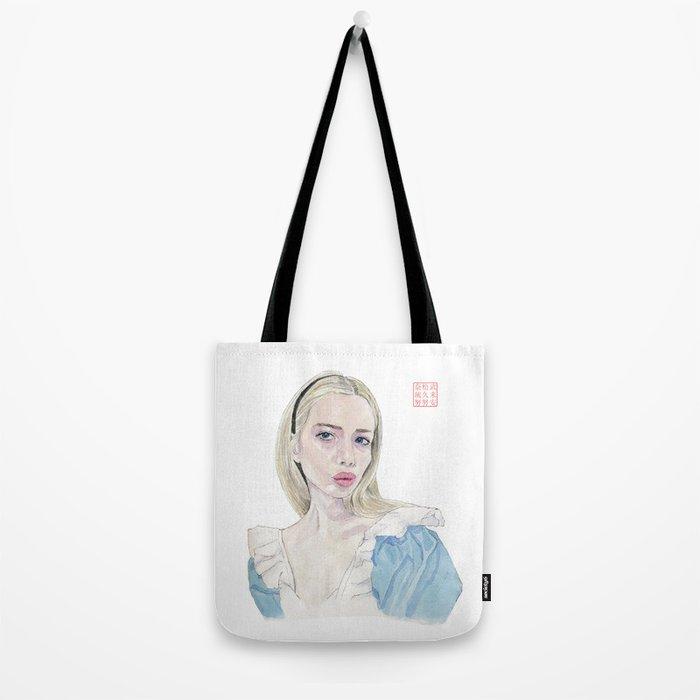 Alice in Selfie-land Tote Bag