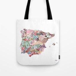 Spain map Tote Bag