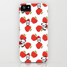 Pandas and Apples iPhone Case