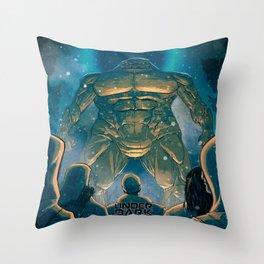 Under the Dark Sun - The Mountain Giant Throw Pillow
