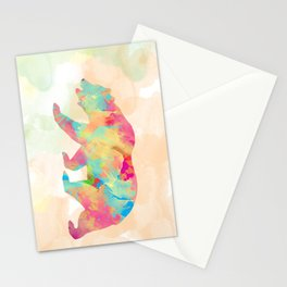 Abstract Bear Stationery Cards