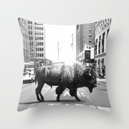 STREET WALKER Throw Pillow