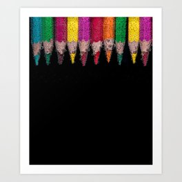 Bubbly Crayons Art Print