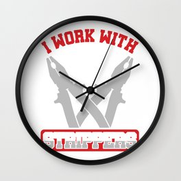 Electrician Repairman Craftsman Handyman Gift Funny Mechanic Technician Wall Clock