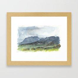 Cheyenne Mountain, Colorado Springs Framed Art Print