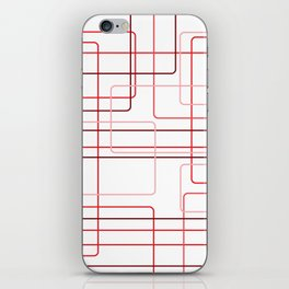 Red Cube Pattern iPhone Skin