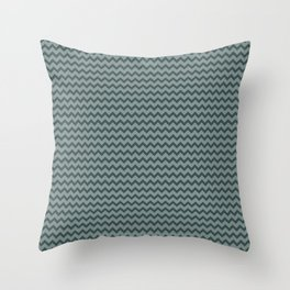 Night Watch PPG1145-7 Chevron Zigzag Horizontal Lines Scarborough Green PPG1145-5 Throw Pillow