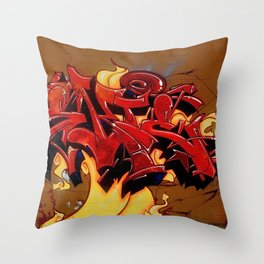 Fire Wildstyle Throw Pillow