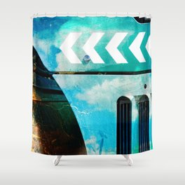 Road Roller Chevron 03 - Industrial Abstract (everyday 19.01.2017) Shower Curtain