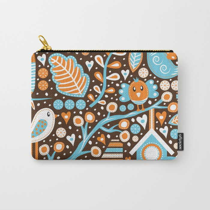 Bird Patterns Carry-All Pouch