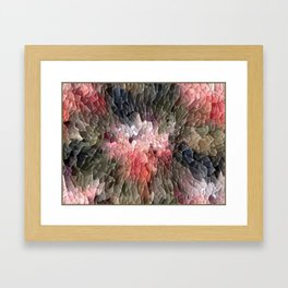 Abstract In Pink, Black And Green Framed Art Print