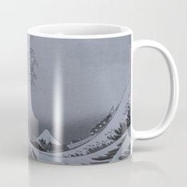 Silver Japanese Great Wave off Kanagawa by Hokusai Coffee Mug
