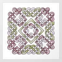 celtic Art Prints featuring Celtic Knotwork by Carrie at Dendryad Art